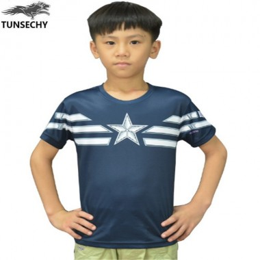 Children Unique Marvel Captain America Super Hero Design Kids T-Shirt Captain America Boys T-Shirts Wholesale And Retail