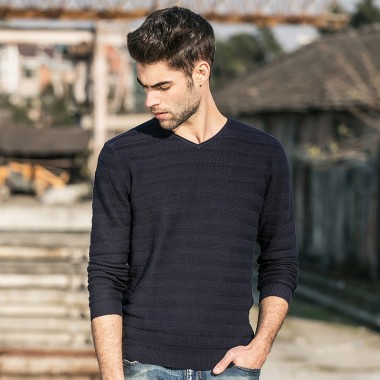 Pioneer Camp 2018 New Arrival Fashion Spring Autumn Men Sweater V-Neck Knitwear Casual Pullover Hot Sale Slim Fitness 655106