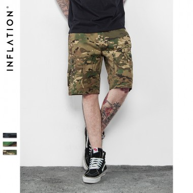 INFLATION | 2016 Brand Mens Military Cargo Shorts New Army Camouflage Shorts Men Cotton Loose Work Casual Short Pants Plus Size