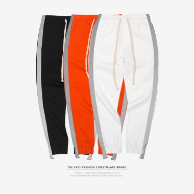 INFLATION Striped Reflective Pant Mens 2018 Hip Hop Casual Joggers Sweatpants Trousers Male Street Fashion Mens Trousers 8407S
