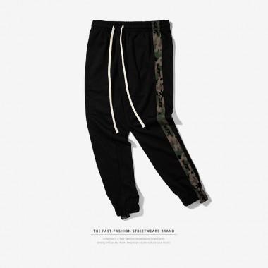 INFLATION 2017 New Autumn Men Pants Elastic Waist Sportswear Pants Camouflage Side Stripe Highstreet Jogger Sweatpants 368W17