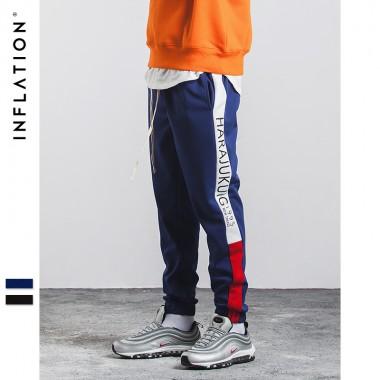 INFLATION 2017 Autumn Causal Sweatpants Men Streetwear Trouser Cotton Fashion Hip Hop Sweatpants 360W17