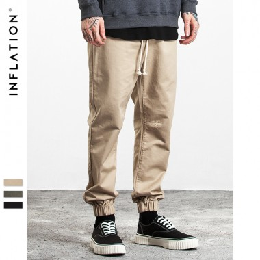 INFLATION 2017 New Collection Autumn &Amp; Winter Cargo Pants Men Ankle-Tied Men Jopgger Casual Pants Fashion Pants 335W17