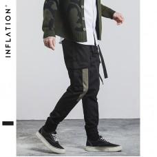 INFLATION Men Joggers Elasticated Pants Hip Hop Fashion Back To School Jogger Pants Casual Pants Men Jogger Pants 329W17