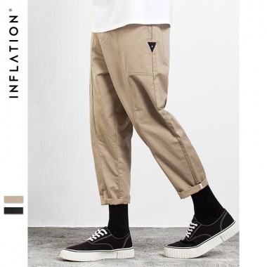 INFLATION 2017 New Collection Autumn Winter Ankle Length Pants Hip Hop Fashion Casual Pants For Men 310W17