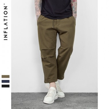 INFLATION 2017 SS Summer Collection Men'S Hightstreet Summer Men'S Casual And Comfortable Loose Lace Tenths Pants 0629S17