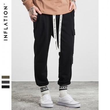 INFLATION 2017 New Autumn &Amp; Winter Sweatpants For Men Pocket Elastic Waist Highstreet Mens Sweatpants 304W17