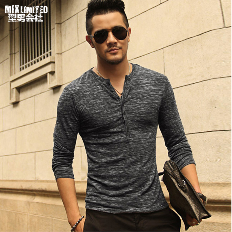 Buy New Men Henley Shirt 2018 New Tee Tops Long Sleeve Stylish Slim Fit T Shirt Button Placket Casual Men Outwears Popular Design From Reliable Henley Shirt Suppliers On Mix Man Store
