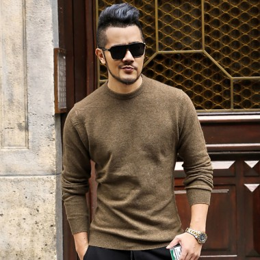 2017 Mens New Winter Sweater Pure Thick Slim Warm Cotton Woolen Casual Men Brand Fashion O Neck Quality European Style Pullovers