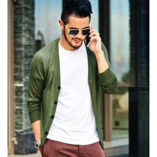 Men Cardigan Air-Conditioned Shirt Casual V-Neck Men Solid Color Men Knitting Cardigan Summer Knitwear Men Cardigans Masculinos