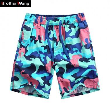 Brother Wang Brand 2018 Summer New Mens Shorts Fashionable Loose Hawaiian Beach Shorts Casual Men Clothing