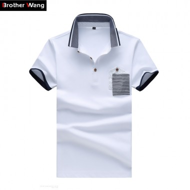Summer New Brand Men Business Casual Polo Shirt Cotton Slim Fashion Large Size Short Sleeve Polo Shirt Large Size 5XL 6XL 7XL
