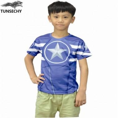 2018 Brand Fashion Children'S Short Sleeve T-Shirt Captain America Spider-Man T-Shirt Wholesale And Retail Free Transportation