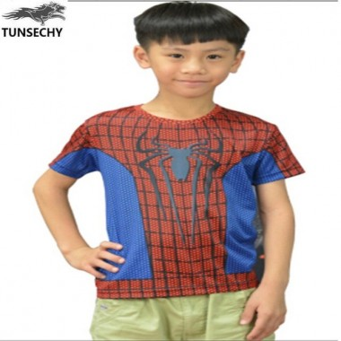 2018 Magic Fashion Brand T-Shirts Superhero Spider-Man Short Sleeve T-Shirts Wholesale And Retail Free Transportation
