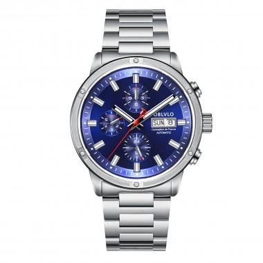 OBLVLO Men Watch Top Brand Automatic Mechanical Steel Date Watch Men Casual Watch Waterproof  CM-YLY