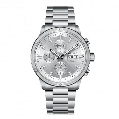 OBLVLO Men Watch Top Brand Automatic Mechanical Steel Date Watch Men Casual Watch Waterproof  CM-YWY