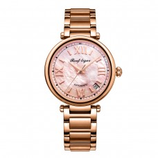 Reef Tiger/RT 2020 Top Brand Luxury Women Automatic Watch Rose Gold Ladies Bracelet Watches Date RGA1595-PPP