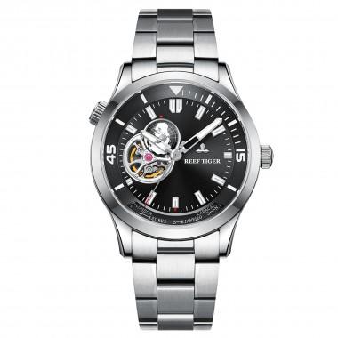 Reef Tiger/RT Brand Automatic Mechanical Men Watch Sapphire Glass Stainless Steel Wrist Watch Relogio Masculino RGA1693-2-YBY