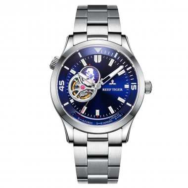 Reef Tiger/RT Brand Automatic Mechanical Men Watch Sapphire Glass Stainless Steel Wrist Watch Relogio Masculino RGA1693-2-YLY