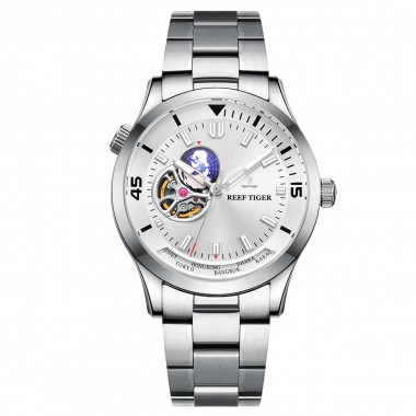 Reef Tiger/RT Brand Automatic Mechanical Men Watch Sapphire Glass Stainless Steel Wrist Watch Relogio Masculino RGA1693-2-YWY