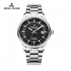 Reef Tiger/RT Business Men Top Grade Luxury Dress Watch Automatic Movement Mens 316L Solid Steel Super Luminous RGA8015-YBY