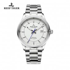 Reef Tiger/RT Business Men Top Grade Luxury Dress Watch Automatic Movement Mens 316L Solid Steel Super Luminous RGA8015-YWY