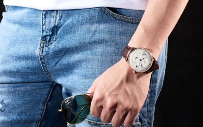 2018 Reef Tiger New Design Seattle Navy Power Reserve Casual Watch for Men