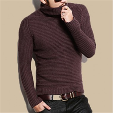2016 New Winter Pullover Men Christmas Warm O-Neck Sweater Mens Slim Fit Thickened Wool Turtleneck Knitting Sweater Brand J226