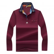 Long Sleeve Polo T-Shirt (8)