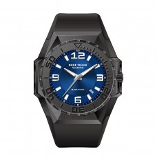 Reef Tiger/RT Top Brand Sport Watches Blue Dial All Black Automatic Mechanical Waterproof Dive Watches Relogio Masculino RGA6903