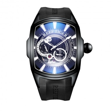 Reef Tiger/RT New Arrival Sports Mens Automatic All Black Rubber Strap Waterproof Watch RGA3069S-BBB