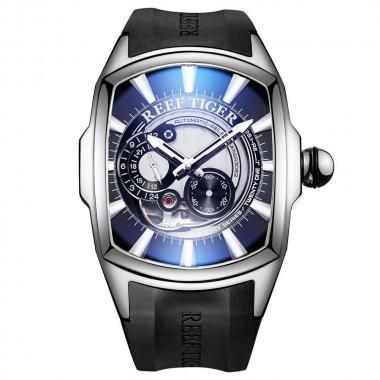 Reef Tiger/RT New Arrival Luxury Sport Mens Steel Case Black Rubber Strap Automatic Watch RGA3069S-YBWB