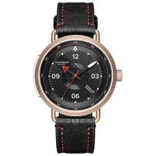 Reef Tiger / RT New Design Luxury Brand Watch Automatic Men Watch Genuine Leather Watch Waterproof Gold Rose Watch RGA9055