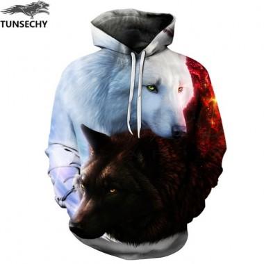 TUNSECHY Animals Print Fashion Brand Hoodies &Amp; Sweatshirts Men/Women 3D Sweatshirt Hooded Hoodies And Pockets Hoody Tracksuits