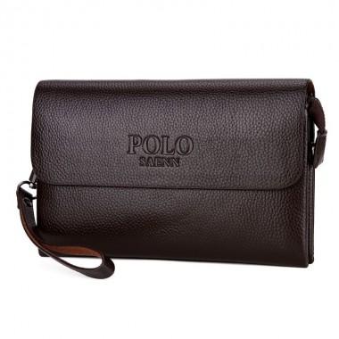 SAENNPOLO Brand Genuine Leather Men Money Clutch Bag Business Male Phone Handbag Vintage Men Long Wallet Solid Men Clutch Wallet
