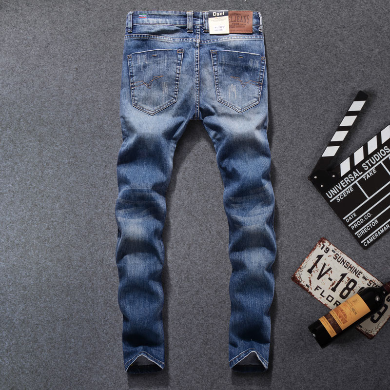 2017 High Quality Original Dsel Brand Men Jeans Fashion Designer Distressed Ripped Jeans Men Straight Fit