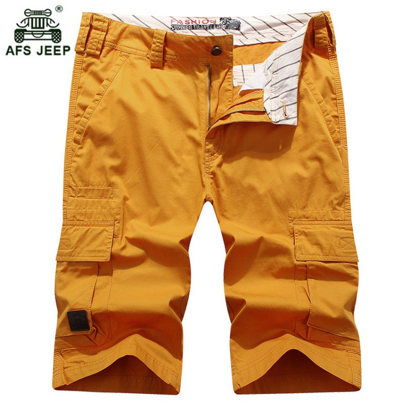 AFS JEEP Brand Clothing Men's Shorts Summer Leisure Shorts 5 Color Straight  Loose Fashion Mans Short Trousers Bottoms 59wy