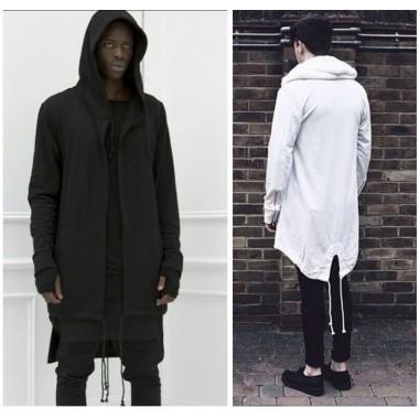 2016 winter style men Hoodies & Sweatshirts fashion brand warm zipper long sleeve Sweatshirts for men Streetwear black white