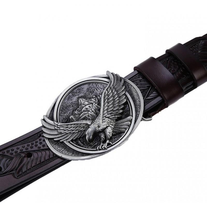213bd1e5aa1 2017 new hot designer belts men high quality solid brass buckle luxury  brand mens genuine leather belt eagle buckle belt black