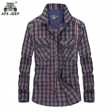 Men's Casual Cotton Shirts Long Sleeve Fashion Plaid Brand High Quality Fitness Office Hot Sale New Dress Shirts 68wy