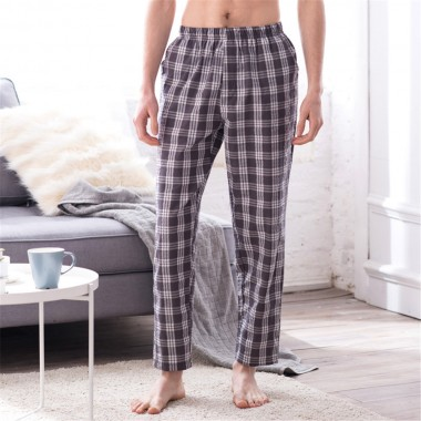 2018 autumn new Men's casual pants comfortable cotton grid straight pants plus size male casual trousers joggers man cross pants