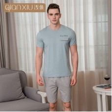 48f9518695 2018 new summer cotton men s pajamas Round letter Multicolor pajama set  short sleeves t-shirts