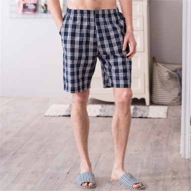 2018 summer Men cotton pajama bottoms Plaid Pyjamas Pants sexy Loose man sleep shorts comfortable lounge male pijama new arrival