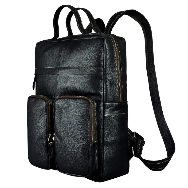 Male Real Leather Fashion Travel Bag School Book University Bag Design  Cowhide Backpack Daypack For Men 2107b d47edc89ae83d