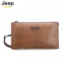 JEEP BULUO Famous Brand Good Leather Day Clutches For Men Fashion Single Wallet Boss Men Bags Newest Arrive Vintage Handbag 1010