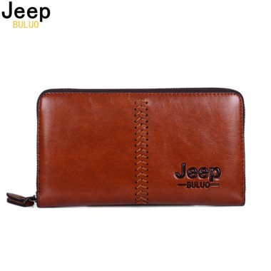 JEEP BULUO Brand Men Clucth Bag Fashion Men Wallet Day Clutch Bag Leather Handbag Card Holder Purse Fashion Male Hand bag 2125