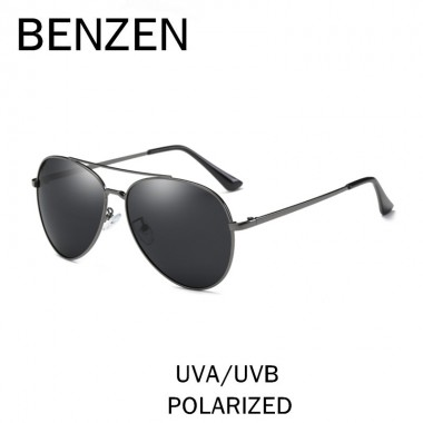 BENZEN Polarized Sunglasses Men Vintage Aviation Male Sun Glasses Driving Glasses For Men Shades Black With Case 9196