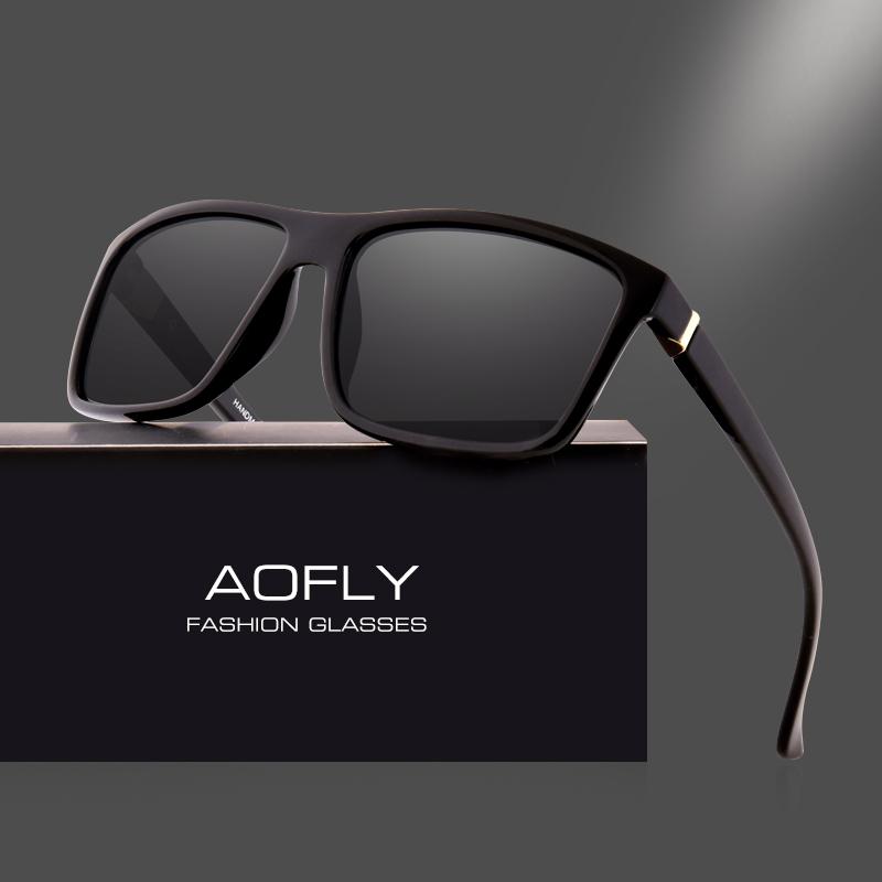 fef5f70c7 AOFLY BRAND DESIGN Polarized Sunglasses Men Square Frame Sun Glasses For  Women Vintage Retro Goggles Eyewear Gafas UV400 AF8066