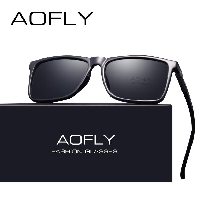 9b3d4fd9d AOFLY BRAND DESIGN Classic Black Polarized Sunglasses Men Driving Sun  Glasses Male Vintage Shades Eyewear Oculos UV400