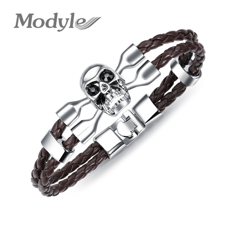 Modyle Vintage Black Skull Bracelets